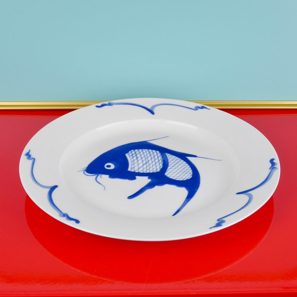 Fish Plate - Blue Bowl