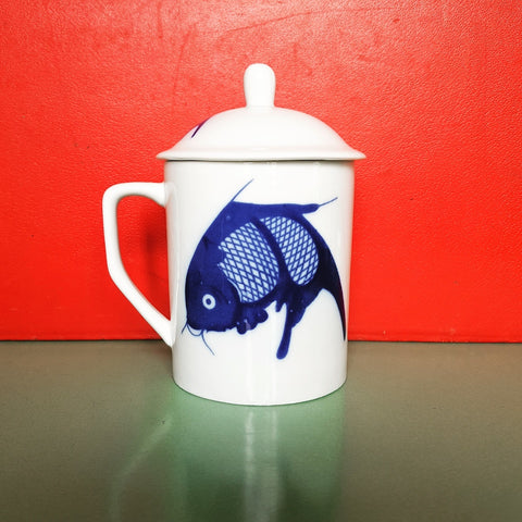 Fish Mug with Lid