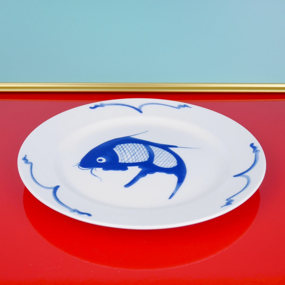 Fish Side Plate - Blue Bowl