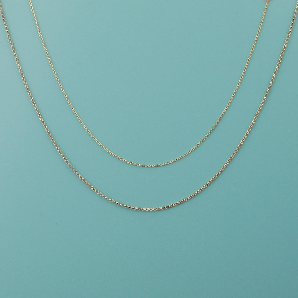 Gold Chain Necklace - Blue Bowl