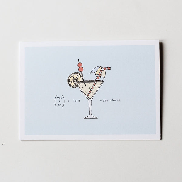 Cocktail Card - Blue Bowl