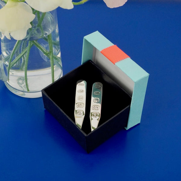 Silver Collar Stiffeners - Blue Bowl