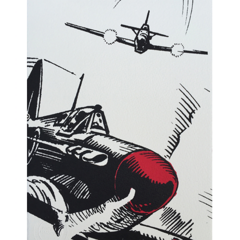 Commando Spitfire Print - Blue Bowl