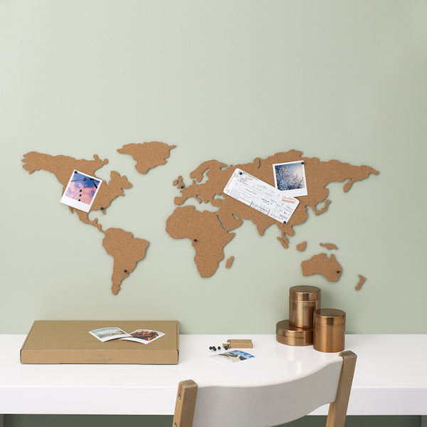 Cork-board Wall Map - Blue Bowl