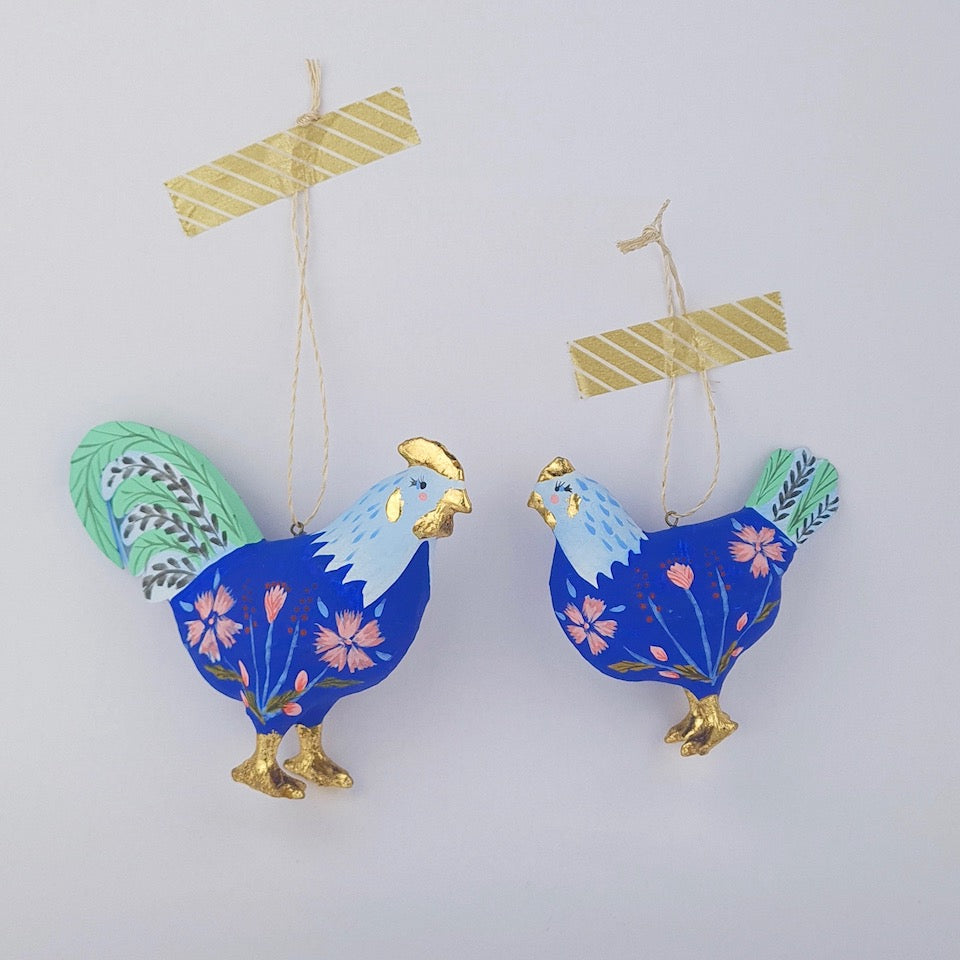 Cottage Chicken Ornament