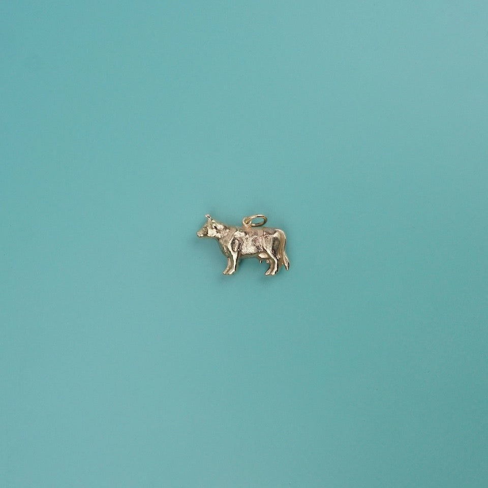 Cow Gold Charm