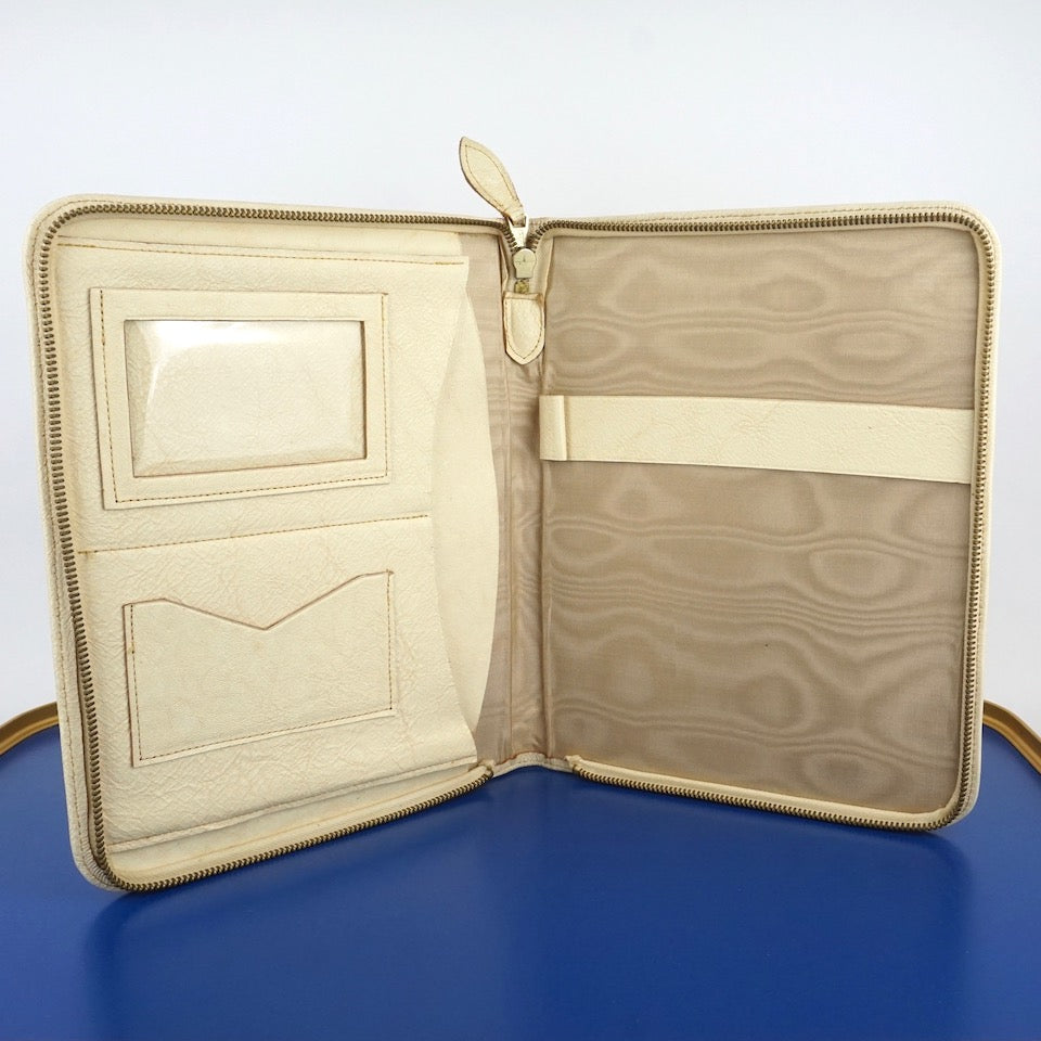 Vintage Cream Leather Writing Case