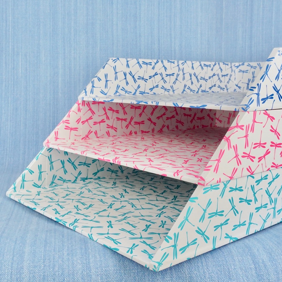 Dragonfly Letter Tray - Blue Bowl