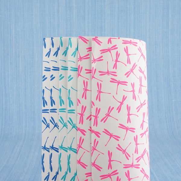 Dragonfly Wrapping Paper - Blue Bowl