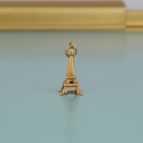 Eiffel Tower Gold Charm