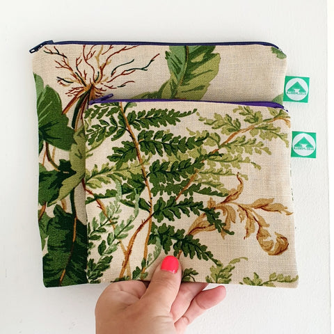 Fern Zip Bag - Blue Bowl
