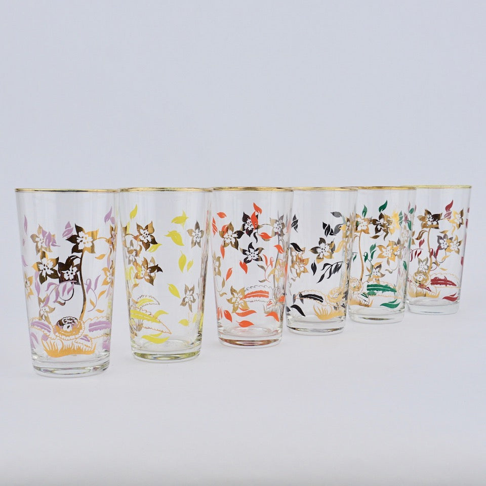 Hand Painted Glasses - Blue Bowl