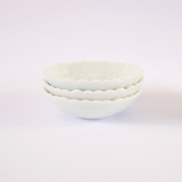 Small Flower Bowls - Blue Bowl