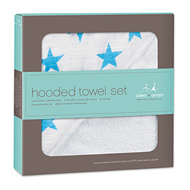 Hooded Towel Set - Blue Bowl