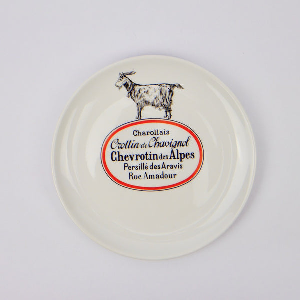 Set of French Cheese Plates - Blue Bowl