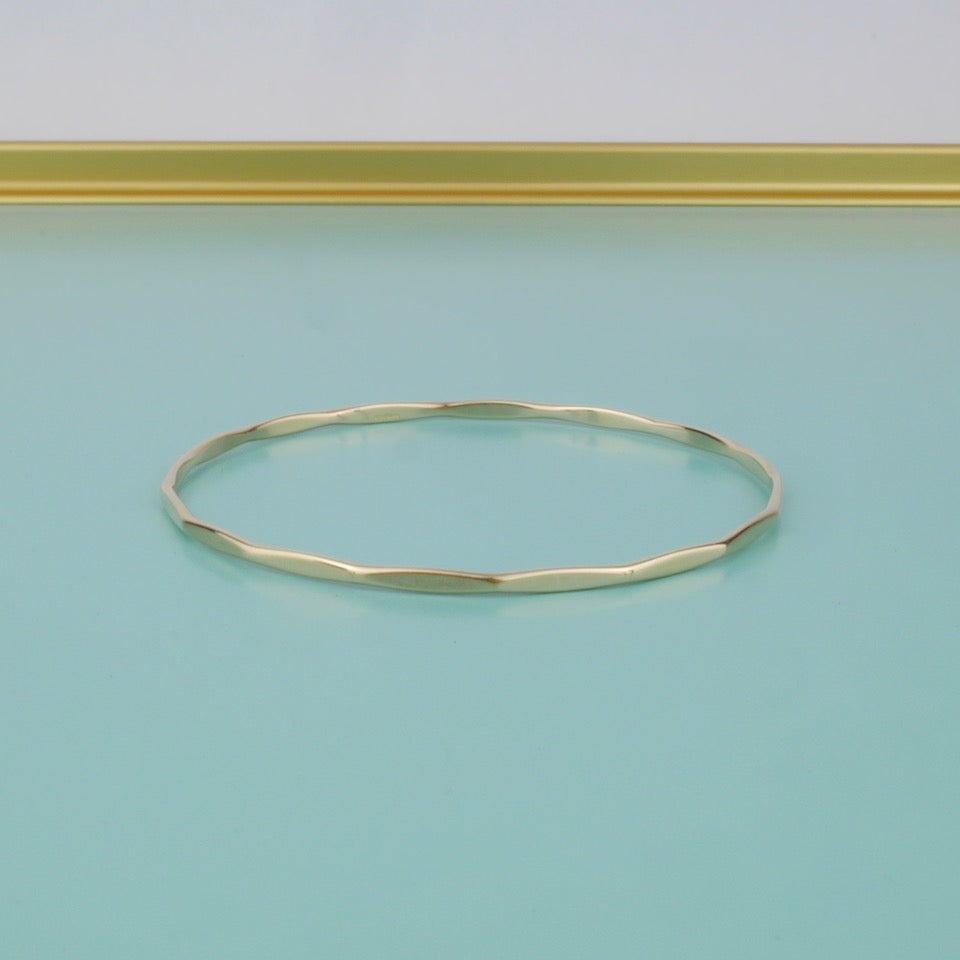 Gold Bangle - Blue Bowl