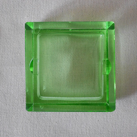 Square Glass Ash Tray - Blue Bowl