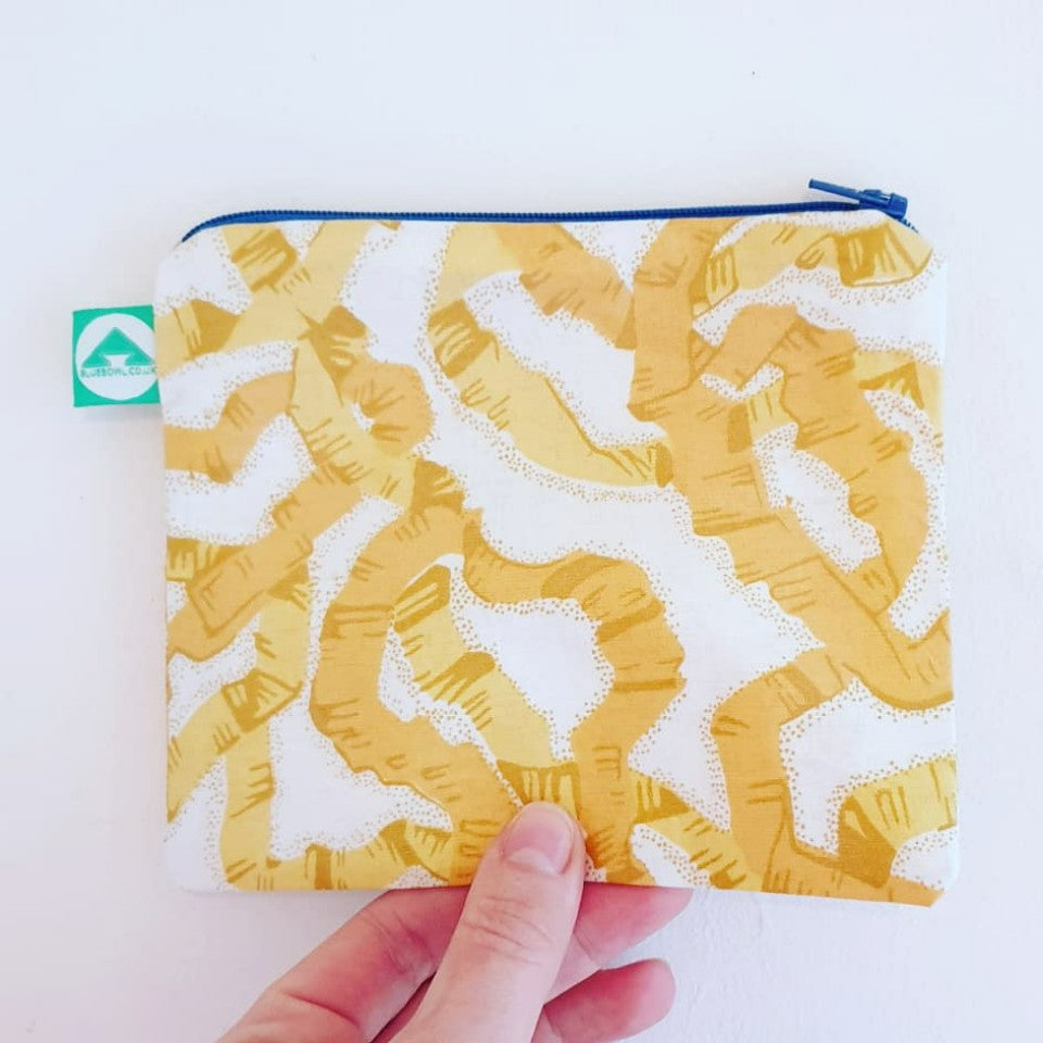 Yellow Ribbon Zip Bag