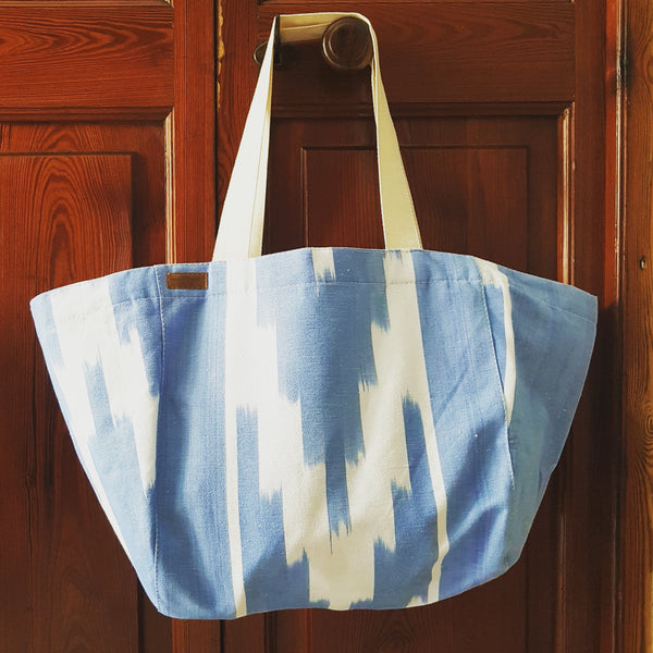 Large Ikat Bag with Canvas Straps