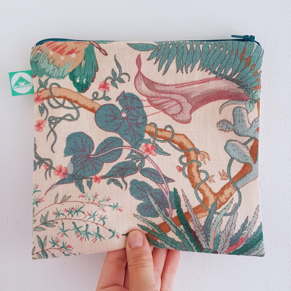 Jungle Zip Bag - Blue Bowl
