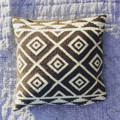 Large Kilim Cushion - Blue Bowl