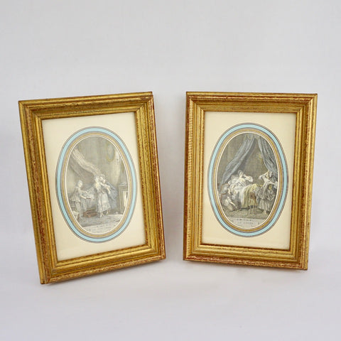 A Pair of French Prints - Blue Bowl