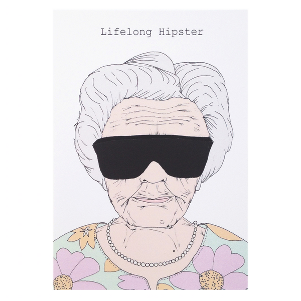 Lifelong Hipster Card - Blue Bowl