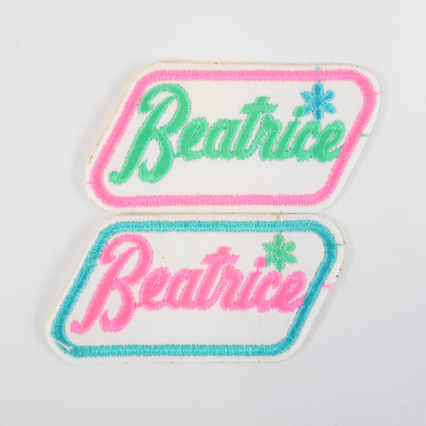 Vintage Name Patches - Blue Bowl