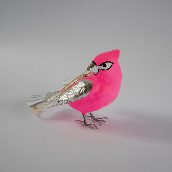 Neon Songbird Ornament - Blue Bowl