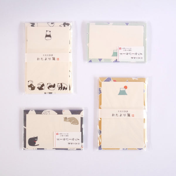 Small Japanese Notepaper & Envelopes - Blue Bowl