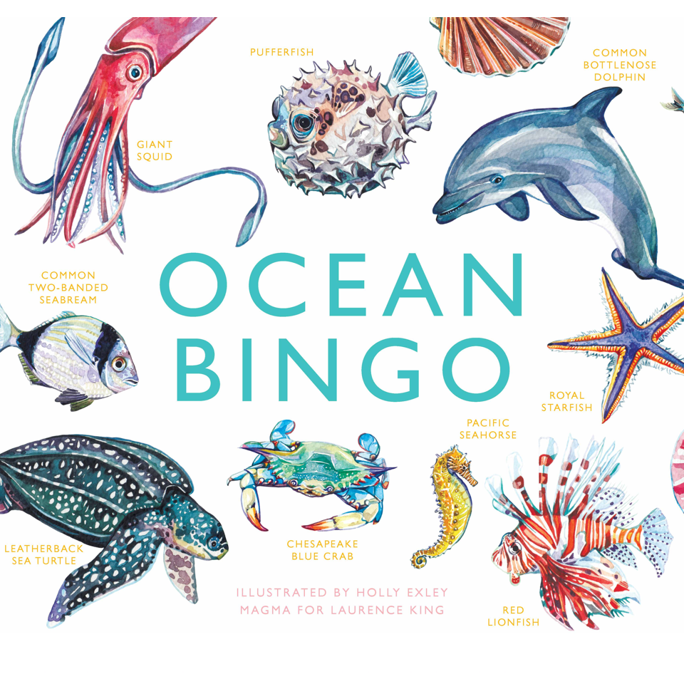 Ocean Bingo - Blue Bowl