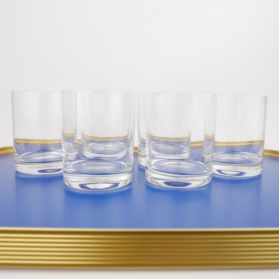 Set of Six Tumblers - Blue Bowl