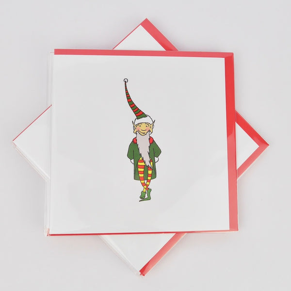 Elf Christmas Cards - Blue Bowl