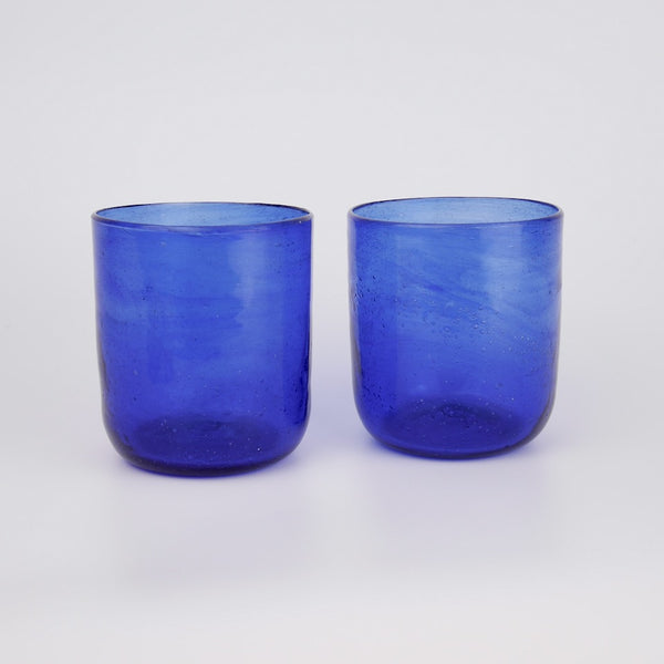 Pair of Blue Glasses - Blue Bowl