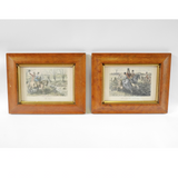 Pair of Vintage hunting prints - Blue Bowl