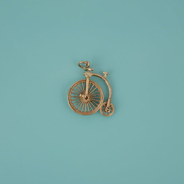 Penny-farthing Gold Charm