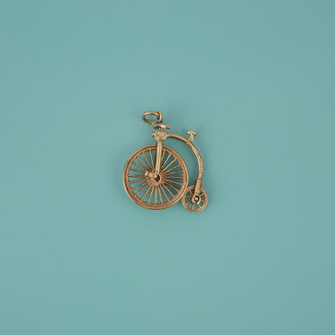 Penny-farthing Gold Charm - Blue Bowl