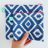 Geo Zip Bag - Blue Bowl