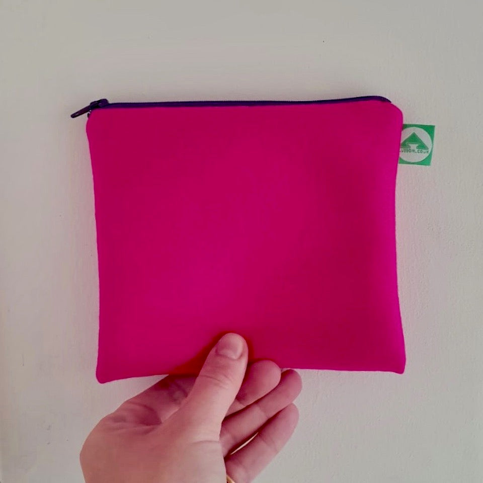 Neon Felt Zip Bag - Blue Bowl