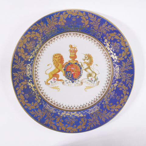 King George III Tin Plate - Blue Bowl