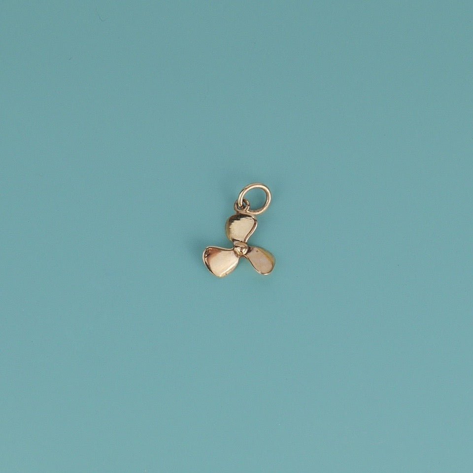 Propeller Gold Charm - Blue Bowl