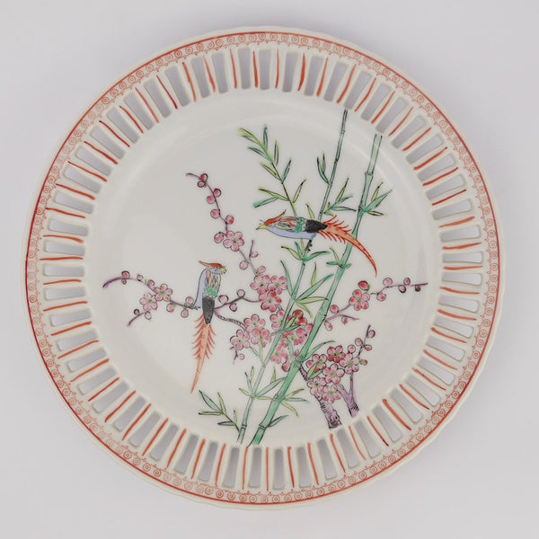 Set of Hand Painted Porcelain Plates
