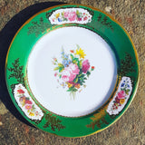Sevres Green Tin Plate - Blue Bowl