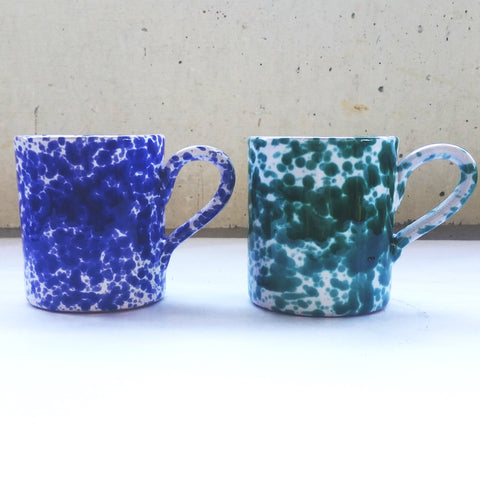 Splatterware Mug - Blue Bowl