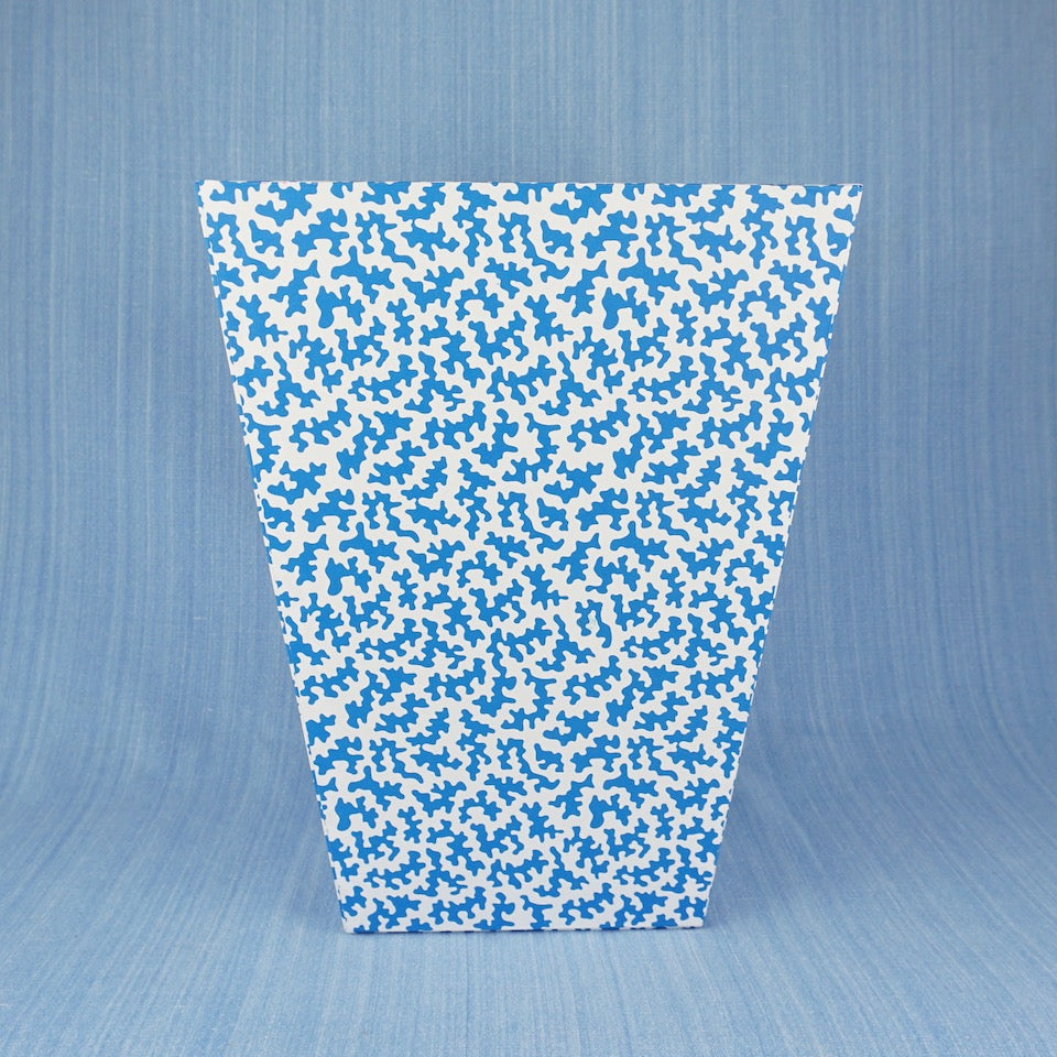 Squiggle Waste Paper Bin - Blue Bowl