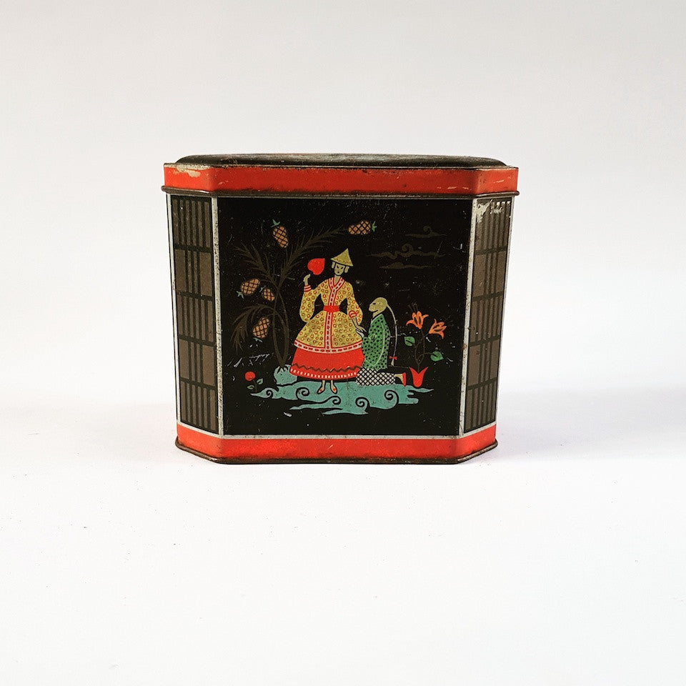 Tea Tin - Blue Bowl