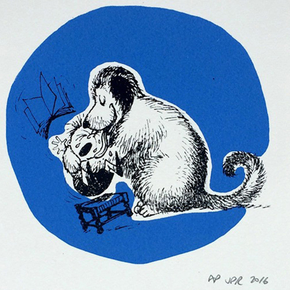 Thelwell Screenprints - Blue Bowl