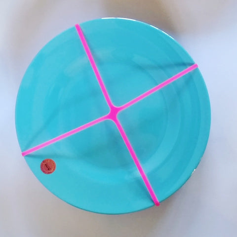 Elastic Plate Holder - Blue Bowl