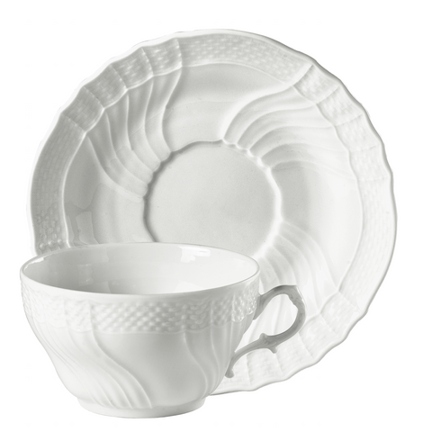 Vecchio Bianco Tea Cup and Saucer