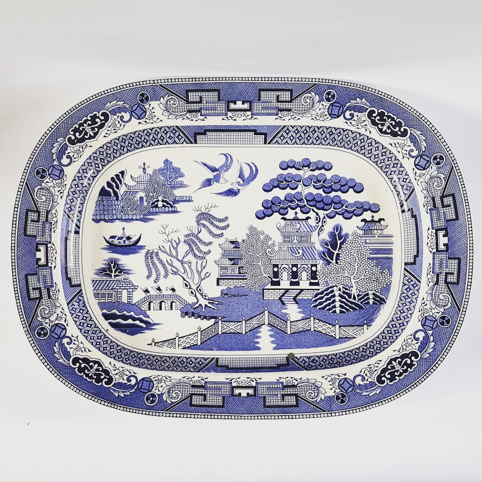 Large Willow Plate - Blue Bowl